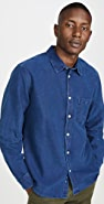 Corridor Indigo Dobby Long Sleeve Shirt