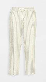 Corridor Natural Stripe Drawstring Linen Pants