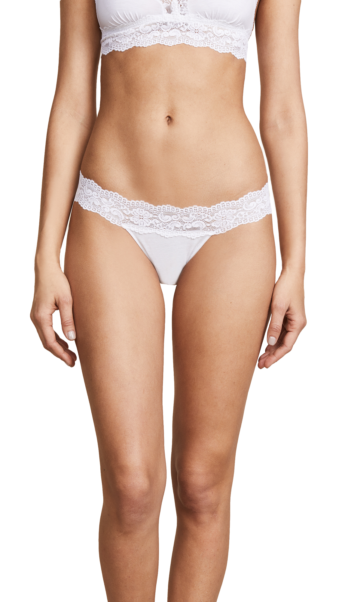 Cosabella Ever Low Rise Thong In White