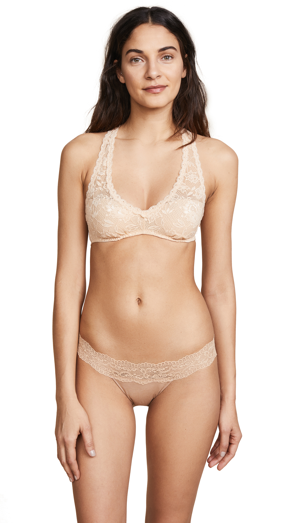 Cosabella Never Say Never Racer Back Bra In Blush