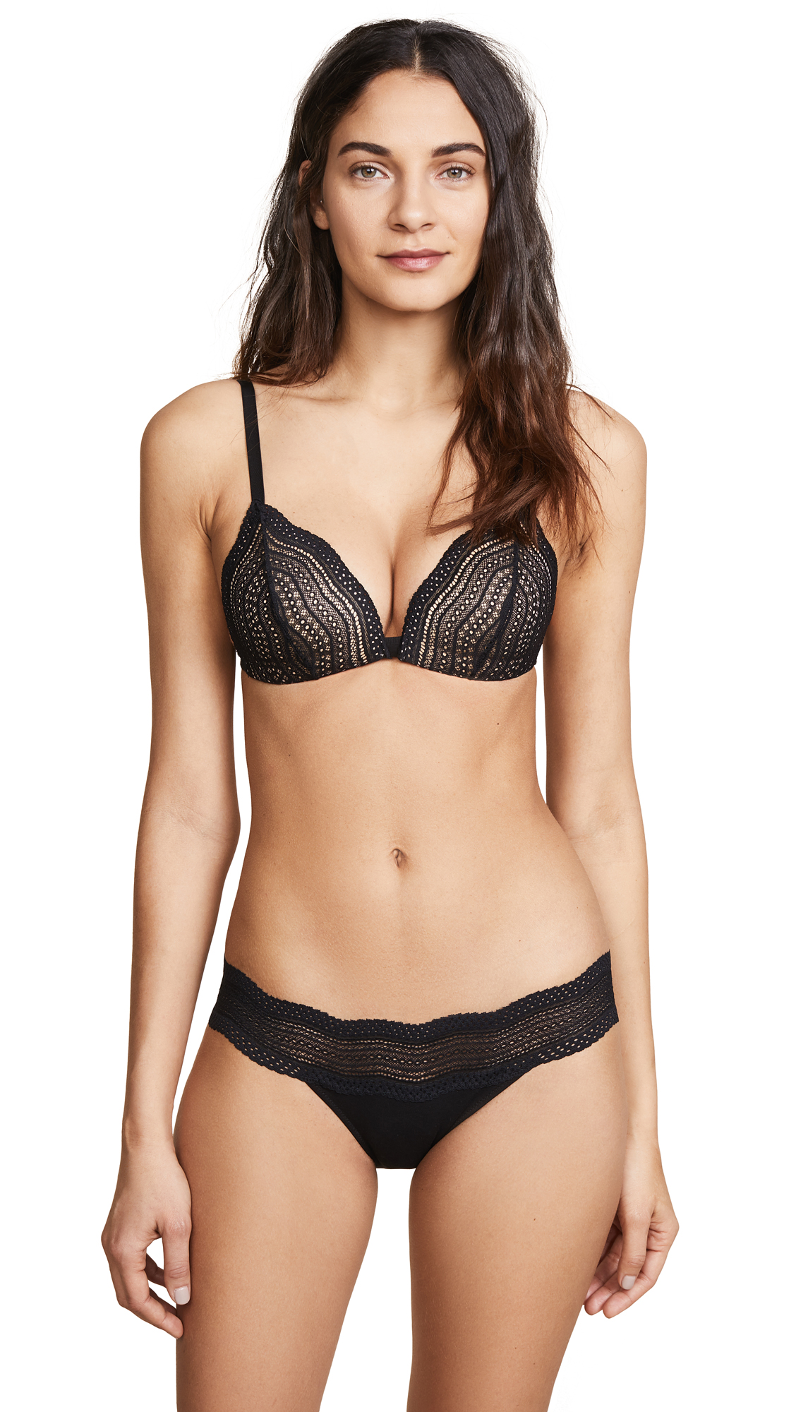 Cosabella Dolce Triangle Soft Push Up Bra - Black