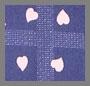 Heart Plaid Navy Blue/White