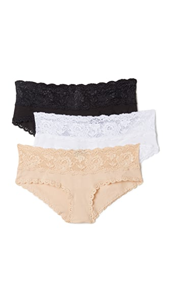 Cosabella Maternity Hotpant 3 Pack - Black/White/Blush
