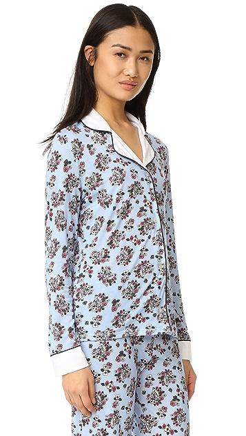 Cosabella Paul & Joe x Cosabella Isabelle Printed Long Sleeve PJ Top