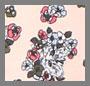 Floral Cat/Pink Snow/Black