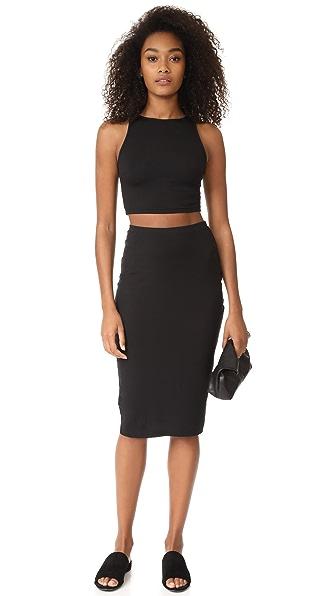 Cosabella Minimalista Crop Cami & Skirt Set - Black