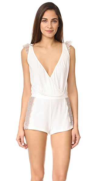 Cosabella Bacall Sleep Romper - Moon Ivory/Shadow