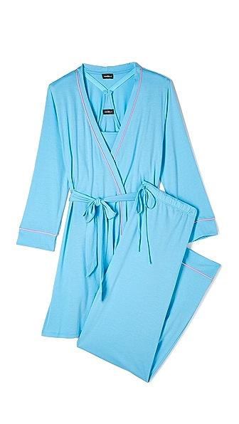 Cosabella Bella Maternity Robe & PJ Set - Blue Bird