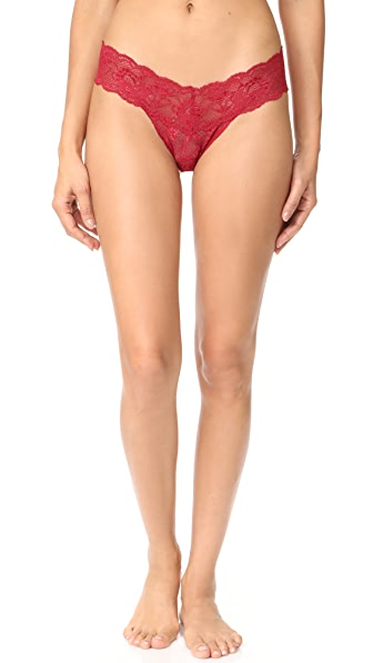 Cosabella Never Say Never Cutie Thong In Brick Red