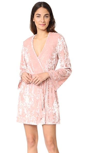 Cosabella Luxe Robe In Mandorla