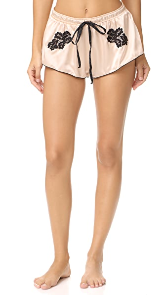 Cosabella Paul & Joe Paige Boxer Shorts - Peach Whip/Black