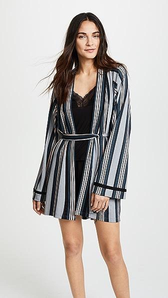 Cosabella Bella Wide Stripe Robe