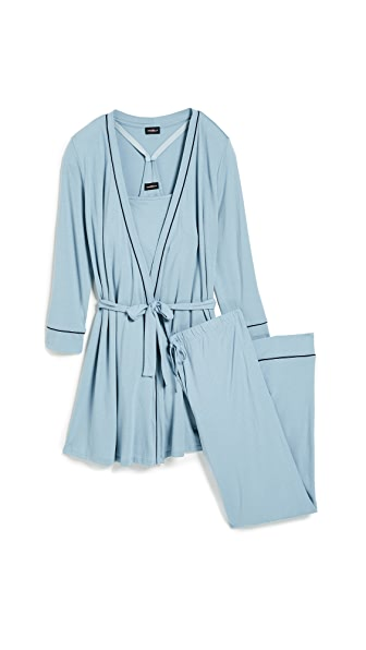 Cosabella Bella Maternity PJ Set In Bathe Blue
