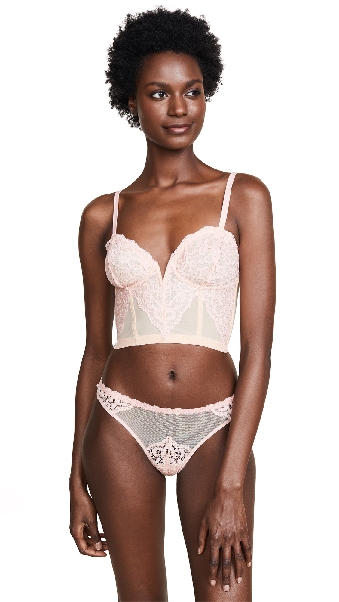 Cosabella Peony Soft Cropped Bustier In Mauvelous/Almond