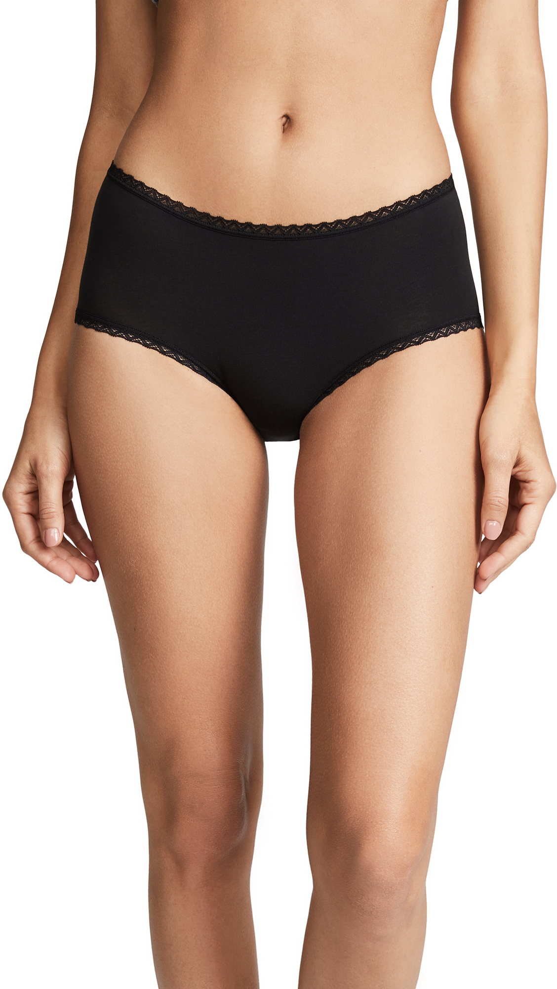 Cosabella Soft Cotton Hotpants In Black