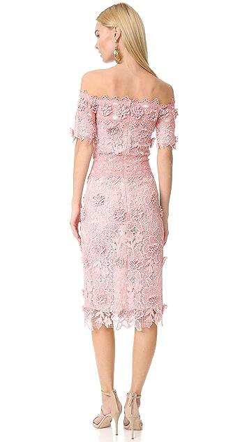 Costarellos Off the Shoulder Dress