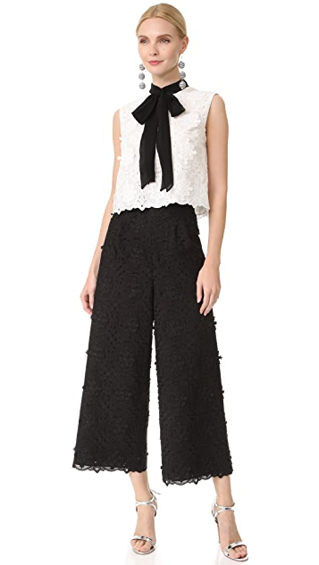 Costarellos Lace Cropped Pants