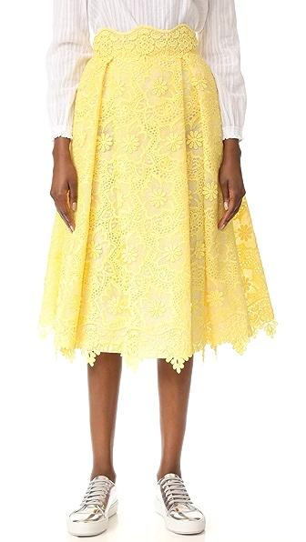 Costarellos Lace Skirt
