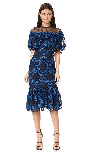 Costarellos Flounced Hem Dress