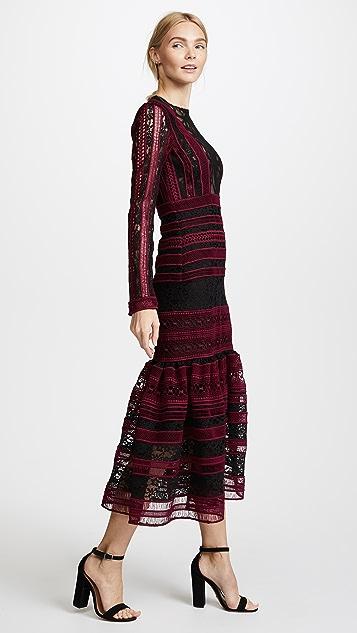 Costarellos Midi Dress with Flared Skirt