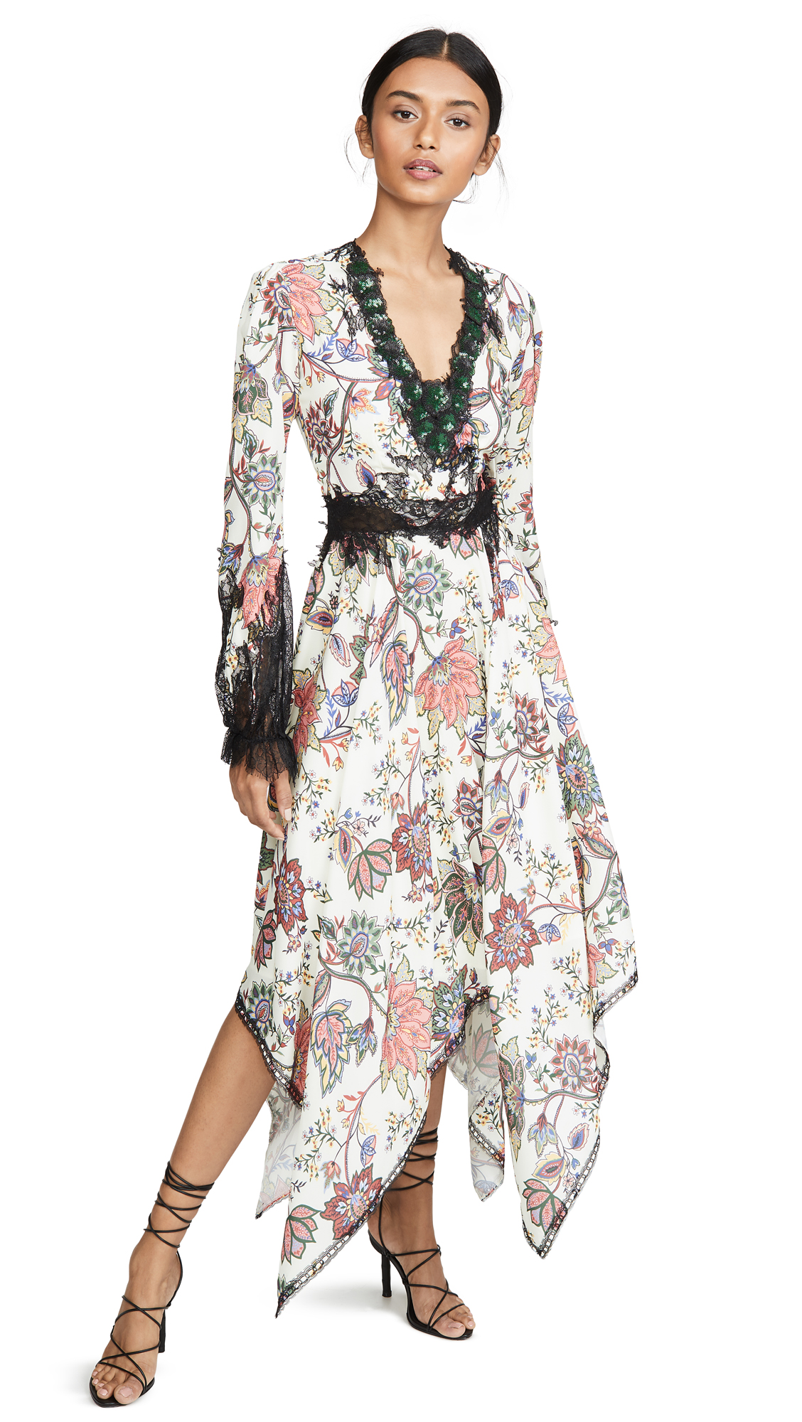 Buy Costarellos online - photo of Costarellos V Neck Bishop Sleeve Dress