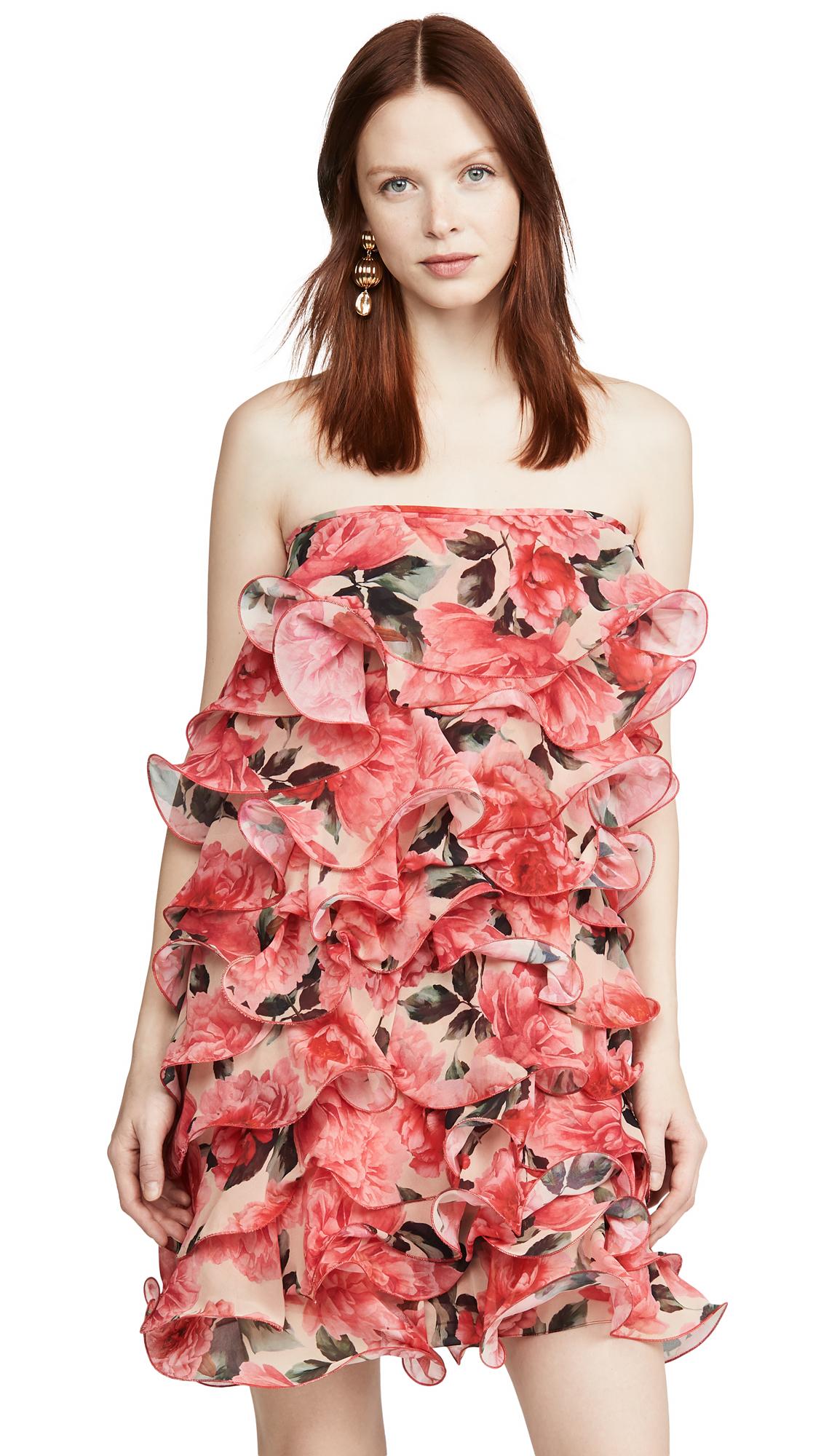 Buy Costarellos online - photo of Costarellos Strapless Georgette Mini Dress