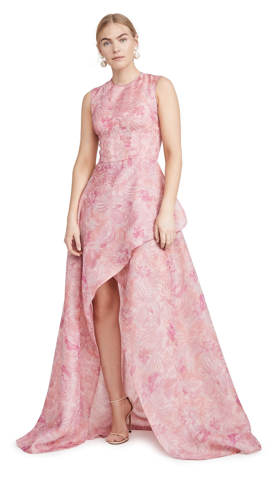 Buy Costarellos Sleeveless Printed Organza Tulip Dress online beautiful Costarellos Dresses, Strapless