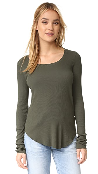 Cotton Citizen The Melbourne Long Sleeve Ribbed Top