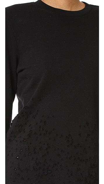 Cotton Citizen Malibu Destroyed Crew Neck Sweatshirt