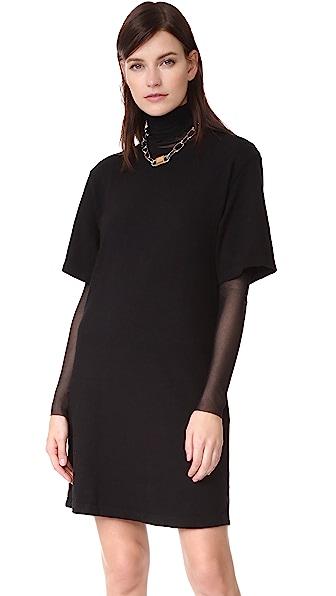 Cotton Citizen Tokyo Mini Tee Dress - Jet Black