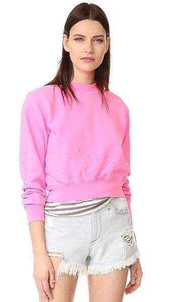 Cotton Citizen Milan Cropped Crew Neck Sweatshirt