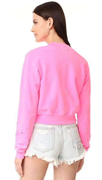 Cotton Citizen Milan Cropped Crew Neck Sweatshirt