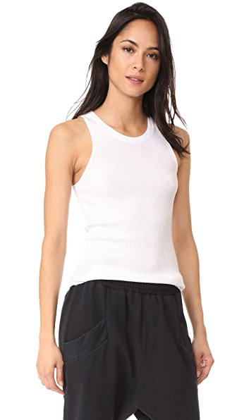 Cotton Citizen The Melbourne Ribbed Tank In White