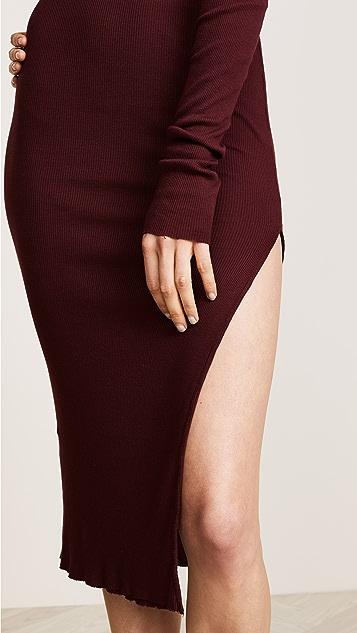 Cotton Citizen The Melbourne Ribbed Midi Skirt