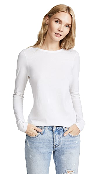 Cotton Citizen The Classic Long Sleeve Tee In Bone