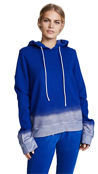 Cotton Citizen The Manhattan Hoodie In Cobalt Metallic