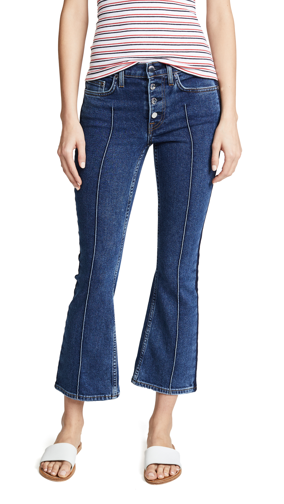 Cotton Citizen The Fly Flare Crop Jeans