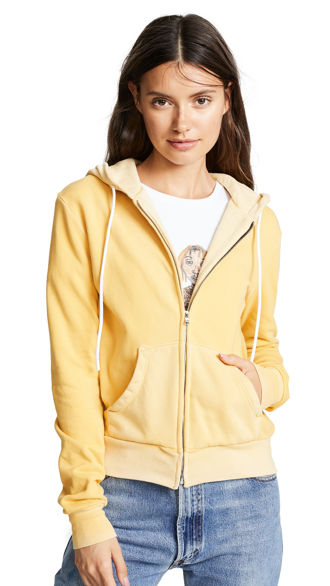 Cotton Citizen Aspen Zip Hoodie In Vintage Jackfruit