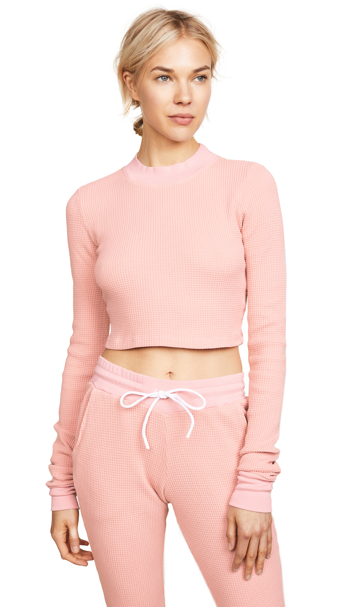Cotton Citizen Monaco Crop Shirt In Blush