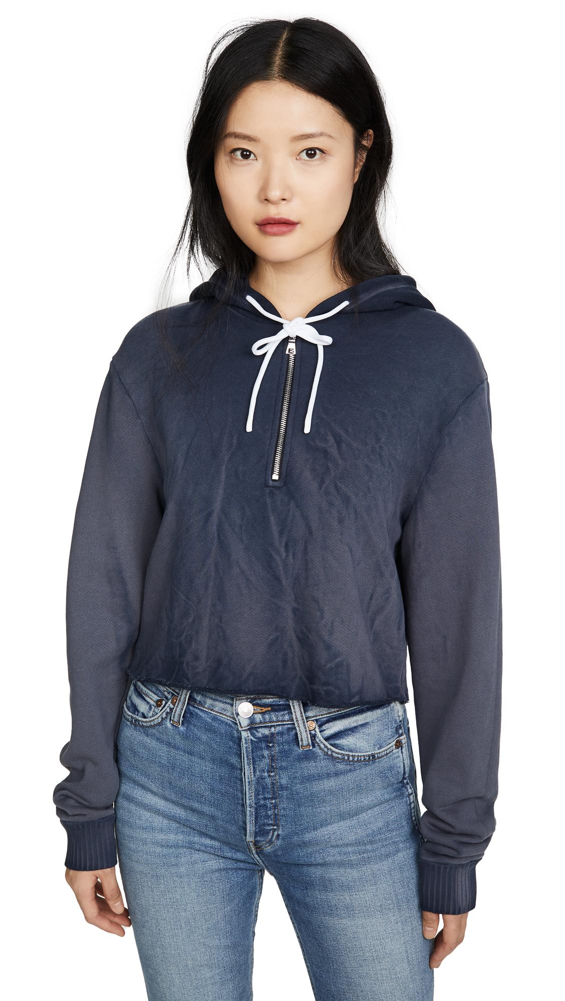 Buy Cotton Citizen online - photo of Cotton Citizen Brooklyn Crop Zip Sweatshirt