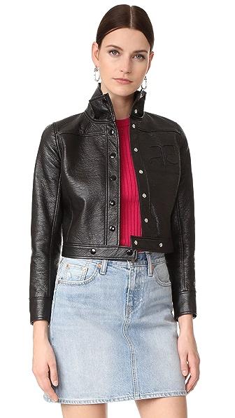 Courreges Jacket In Black