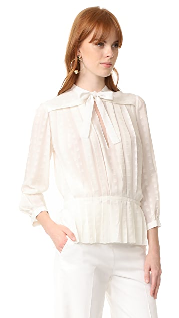 Courreges Pleated Shirt