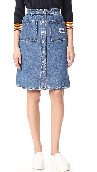 Courreges Snap Midi Skirt