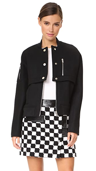 Courreges Bomber Jacket - Black