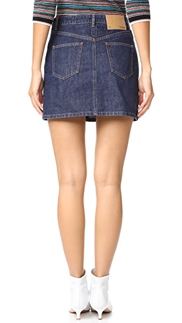 Courreges Denim Miniskirt