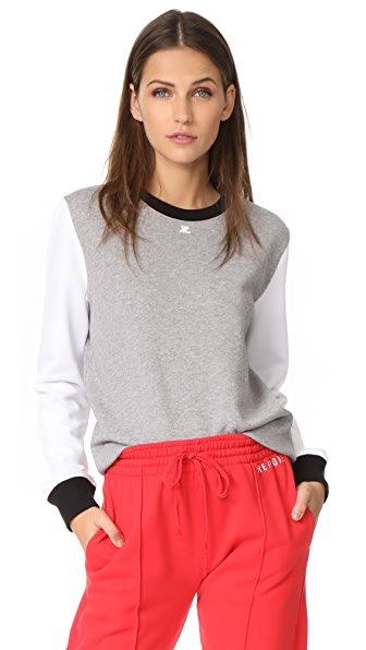 Courreges Long Sleeve Sweatshirt