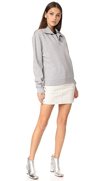 Courreges Zip Neck Sweatshirt