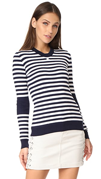 Courreges Long Sleeve Striped Sweater