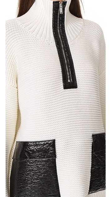 Courreges Zip Neck Sweater