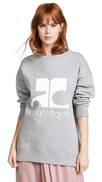 Courreges Fleece Logo Sweatshirt at Shopbop